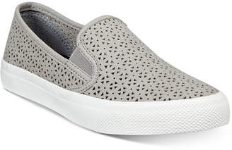Sperry Women's Seaside Perforated Slip-On Sneakers, Created for Macy's Women's Shoes