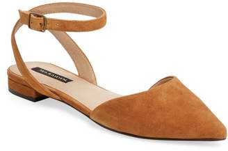 Ava & Aiden Women's D'Orsay Flat with Ankle Strap