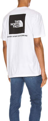 The North Face Red Box Tee in TNF White   FWRD
