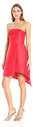 Halston Women's Strapless Silk Faille Structure Dress