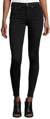 rag & bone/JEAN 10 Inch Skinny Jeans, Black $198 thestylecure.com