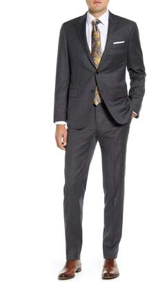 Hickey Freeman Modern H Fit Solid Wool Suit