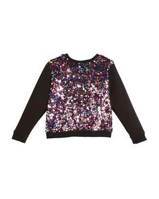 Milly Minis Sequin Combo Sweatshirt, Size 8-16