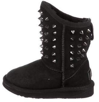 Australia Luxe Collective Girls' Studded Suede Boots