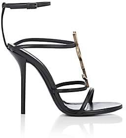 Saint Laurent Women's Cassandra Leather Sandals - Black
