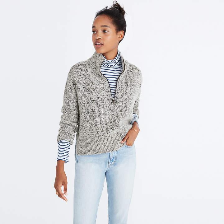 Marled Half-Zip Sweater