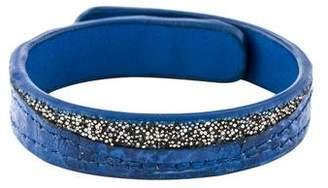 Khirma Eliazov Leather & Crystal Wrap Bracelet