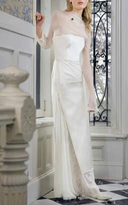 Danielle Frankel Bridal Poppy Duchesse Strapless Column Gown