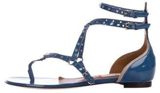 Valentino Patent Leather Grommet Sandals w/ Tags