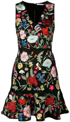 Alice + Olivia Alice+Olivia floral-embroidered dress