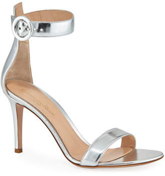 Gianvito Rossi Portofino Metallic Napa Ankle-Strap 85mm Sandal