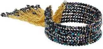 Nakamol Chain Tassel Cuff Bracelet