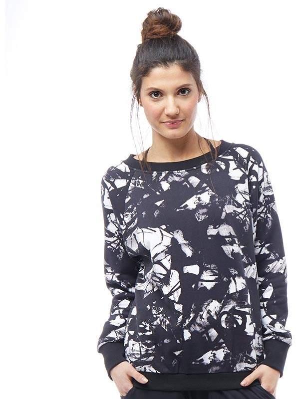Damen Studio Favourites All Over Sweatshirt Schwarz