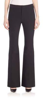 Derek Lam 10 Crosby Women's Solid Flare Trousers - Black - Size 4