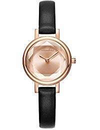 RumbaTime Women's 'Venice' Quartz Stainless Steel and Leather Casual Watch
