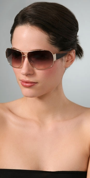 Marc by Marc Jacobs Wide Aviator Sunglasses