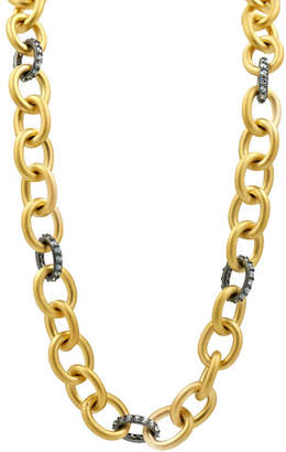 Freida Rothman Heavy Alternating Link Toggle-Chain Necklace