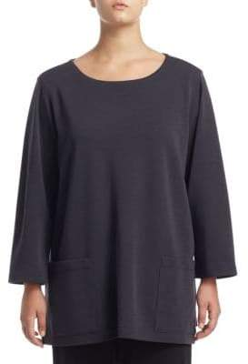 Caroline Rose Flat Knit Pocket Wool Tunic