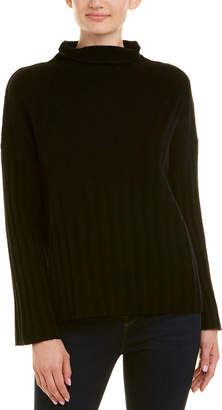 Qi Textured Funnel Neck Wool & Cashmere-Blend Sweater