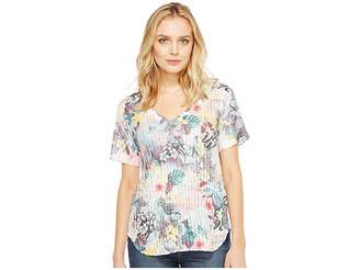 Nally & Millie Tropical Print Tee Women's T Shirt