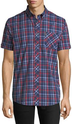 Ben Sherman Men's Checkered Short-Sleeve Sport Shirt