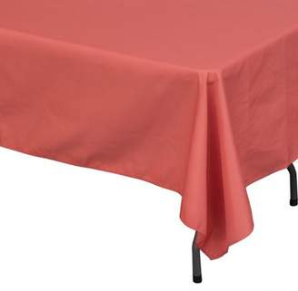 Stumps Polyester Rectangle Tablecloth, Coral