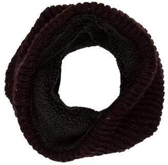John Varvatos Sherpa-Lined Rib Knit Snood