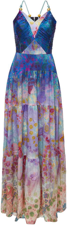 Printed Silk Cami Dress
