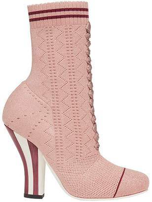 Fendi stretch fabric boots