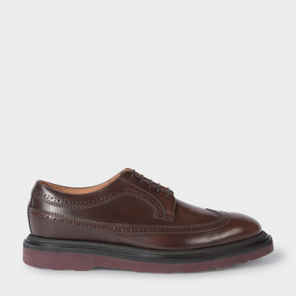 Paul SmithMen's Brown Calf Leather 'Grand' Brogues
