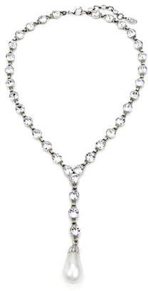 Ben-Amun Crystal & Pearly Y-Drop Necklace