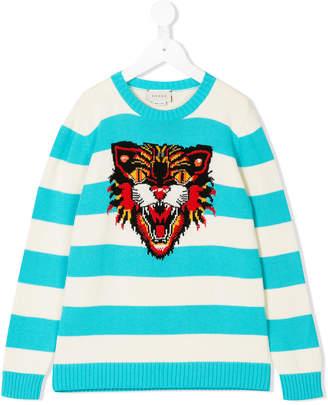Gucci Kids intarsia tiger sweater