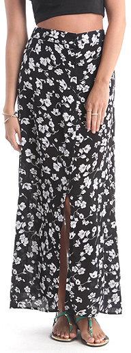LA Hearts Button Front Maxi Skirt