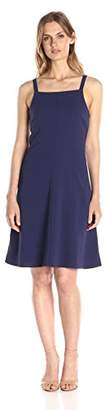 Lark & Ro Women's Straight Neck A-Line Dress
