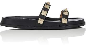 Valentino Women's Rockstud Leather Slide Sandals