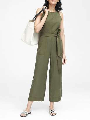 Banana Republic TENCELTM Cropped Wide-Leg Jumpsuit