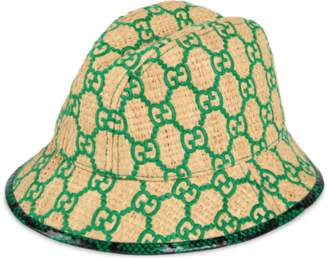 0a2698ab8e8d20 Gucci GG fedora hat with snakeskin