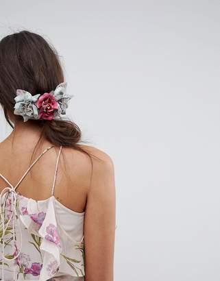 Asos Occasion Velvet Floral Hair Comb