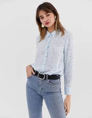 Warehouse shirt in blue star print