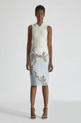 Yigal Azrouel Venice Paisley Print Scuba Skirt