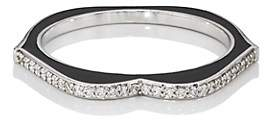 Ring Black Raphaele Canot Women's OMG! Thin Lips Ring - Black