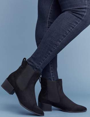 Lane Bryant Faux Suede Side Gore Ankle Boot