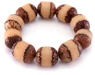 März The Two-Tone Beaded Wood Stretch Bracelet