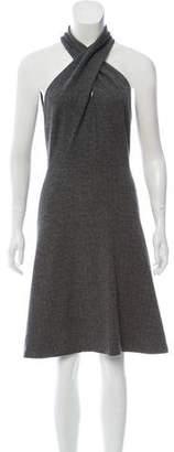 Gucci Wool Chevron Knit Dress