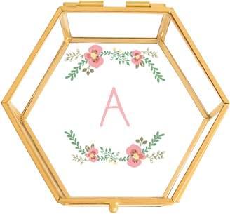 Cathy's Concepts Floral Monogram Keepsake Box