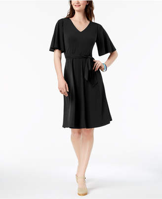 Charter Club Petite Belted A-Line Dress