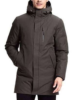 Lumberfield Outdoor Waterproof Windproof Camping Long Hiking Jacket Men's Hooded Parkas Coat XXL