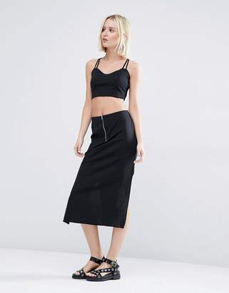 Weekday Co-ord Skirt With Zip