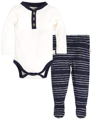 Burt's Bees Painted Lullaby Organic Baby Bodysuit & Footed Pant Set
