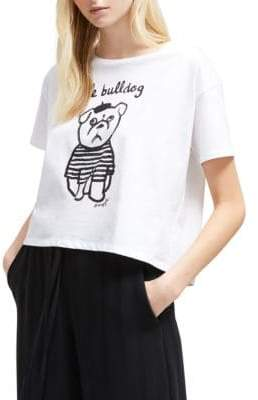 French Connection Bulldog Cotton Tee